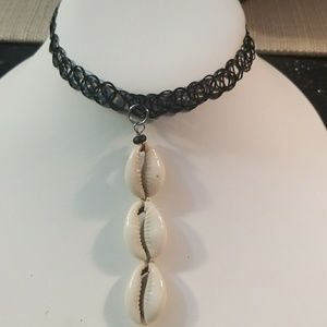 3 Tier Cowrie Shells Simulated Tattoo Choker